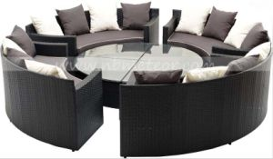 Round Outdoor Garden Sofa Set Rattan Furniture (MTC-285) pictures & photos