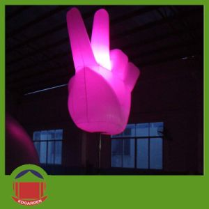 New Style Inflatable Hand with LED Light Inside pictures & photos