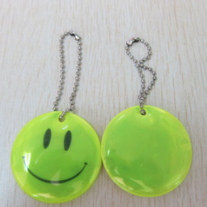 Cheapest Key Ring, Smile Reflective PVC Key Chain pictures & photos
