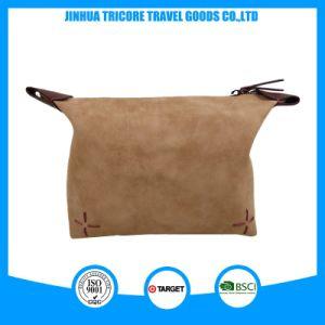 PU Leather Beige Color 2 Eras Fashion Wash Bag pictures & photos