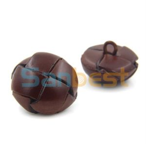 Fancy Fashion Style Imitation Leather Buttons pictures & photos