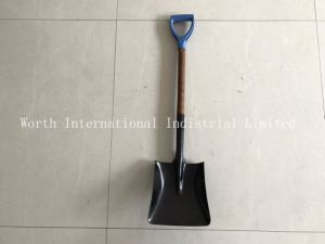 Wood Handle Shovel with Plastic D Grip pictures & photos