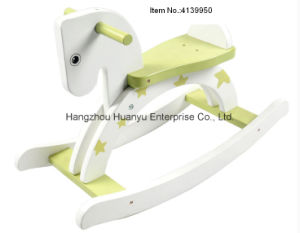 Green Star Wooden Rocking Horse with CE pictures & photos