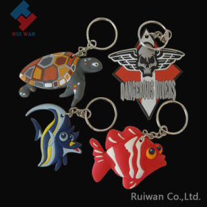Fish Design Eco-Friendly Plastic Keychain pictures & photos