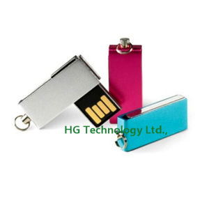 High Quality Revolve USB Drive Swivel USB Stick Classic Gift USB (HBU-124)