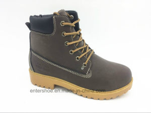Lace up Leather Ladies Safety Working Shoes (ET-XK160210W) pictures & photos