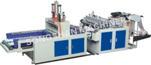 Automatic Double Line T-Shirt Bag Making Machine (SSH-800D) pictures & photos