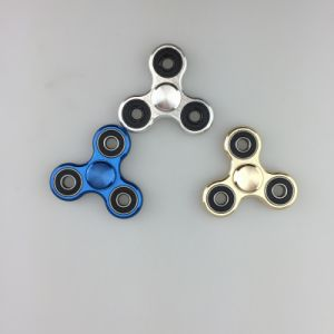 LED Rainbow Brass Ceramic Titanium Glow Gold Luggage Mini Hand Spinner pictures & photos