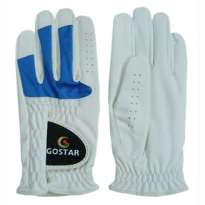 Black Synthetic Leather with Blue Lycra Golf Glove (PGL-19) pictures & photos