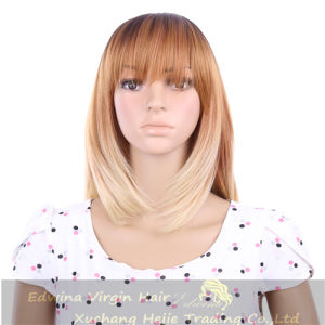 100% Synthetic Ombre Color Bob Straight Hair Blonde Hair Wig