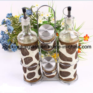 Glass Oil Bottle with Straw