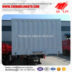 Cargo Box Animal Transport Semi Trailer with Collapsible Doors pictures & photos