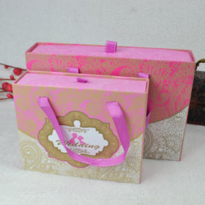 Chocolate Packaging Gift Paper Box with Rope Handle pictures & photos