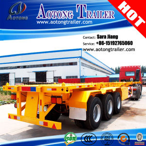40FT 3 Axles Skeleton Container Semi Trailer Container Trailer Chassis pictures & photos
