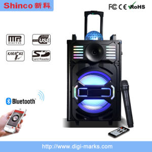 Hot Sale Promotion Classical with Colorful Lighting Bluetooth Karaoke Speaker pictures & photos