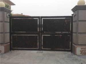 Black Powder Coated Superior Entrance Gates pictures & photos
