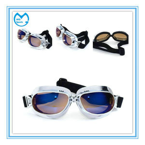 UV 400 Custom Mirrored PU Leather Motorcycle Equipment ATV Eyewear pictures & photos