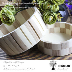 Hongdao Hot Selling Customizable Round Wooden Packaging Box_D pictures & photos