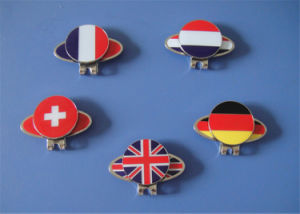 Soft Enamel Country Flag Magnetic Ball Marker and Hat Clip pictures & photos