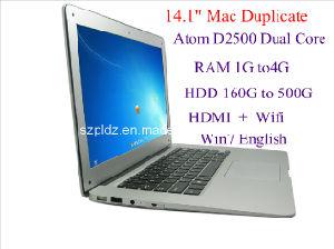 """14"""" Ultrathin Laptop/Notebook (Atom D2500 Dual Core 4G/500g) (PC-141)"""