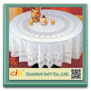 Waterproof Polyester Woven Wedding Table-Cloth pictures & photos