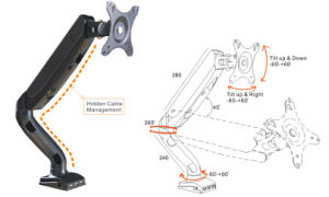 """Desktop LCD Monitor Mount Cantilever 10-24"""" (LCD 3001) pictures & photos"""