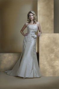 Charming Brand Name White Full Length Empire Beaded Tulle Wedding Dresses for Pregnant Brides (BD10027) pictures & photos