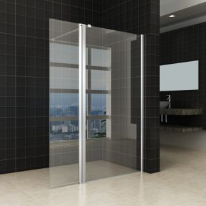 Sanitair Glas Inloopdouche Pivot Fixed Shower Screen Toughened Glass pictures & photos