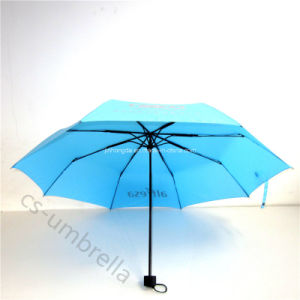 Pongee Fabric 3 Fold or Folding Umbrella with Logo (YS3F0004) pictures & photos