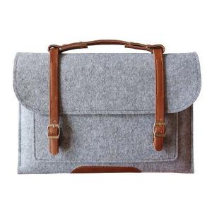 Woolen Felt Protective Bag Envelope Shoulder Messenger Case Cover Sleeve Carrying Protector Case for MacBook PRO Retina Ultrabook Netbook pictures & photos