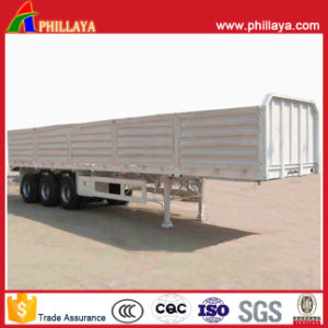 Open Top Side Wall Detachable Flatbed Box Trailer for Sale pictures & photos