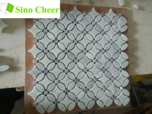 Natural Stone Tile White Mosaics Marble Flooring Material Mosaic Stone pictures & photos