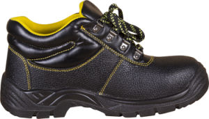 Professional Split Embossed Leather Safety Shoes, High Ankle pictures & photos
