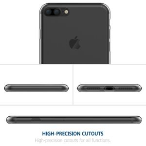 for iPhone 7 Plus Cover, Soft TPU Crystal Clear Transparent Slim Anti Slip Back Case Cover Shockproof for iPhone 7 Plus pictures & photos
