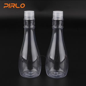 150ml Empty Plastic Vase Shaped Clear Water Makeup Bottle with Screw on Cap pictures & photos