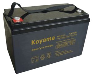 12V110ah VRLA Deep Cycle AGM Battery for Solar System DC110-12 pictures & photos