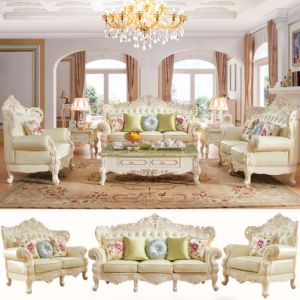 Wood Sofa for Living Room Furniture (512D) pictures & photos