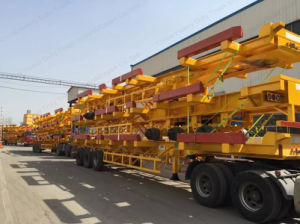 High Quality 3axle Sinotruk HOWO 40FT Skelete Container Semi Trailer pictures & photos