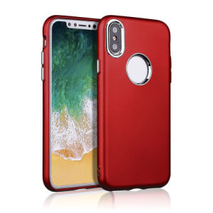 Metal Spraying Texture Soft TPU Bumper Back Case for iPhone 8/8plus pictures & photos