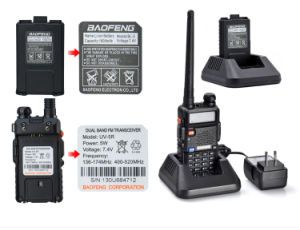 Hot Selling Ce & FCC Approved Dual Band Baofeng UV-5r pictures & photos