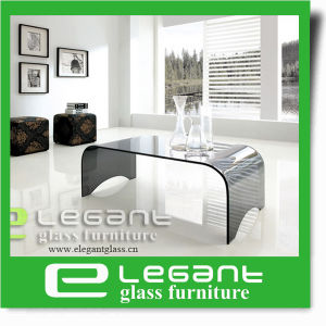 Round Corner Curved Glass Center Table in Clear Color pictures & photos