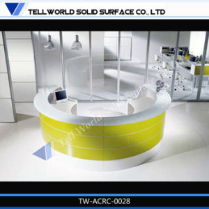 Tw Modern White and Green Small Office Reception Desk pictures & photos