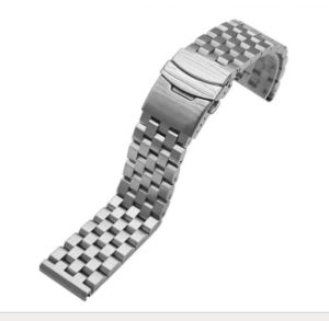 High Quality Solid Stainless Steel Men′s Tank Watch Band 5 Beads Fold Clasp Black Silver Watch Strap for Brand Watch Link Bracelets pictures & photos
