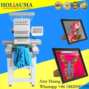 Tajima Type Single Head 15 Needle Happy Machine Embroidery Dahao Computer Hat Lace Flat Embroidery Machine pictures & photos