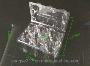 PVC Clear 6 Eggs Blister Packaging Box pictures & photos