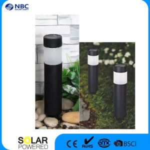 Black Round Plastic Solar Pillar Light Garden Light Post Light pictures & photos