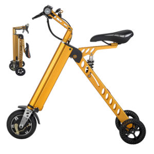 Fashionable Factory Supply 250W Three Wheels Electric Folding Bike pictures & photos