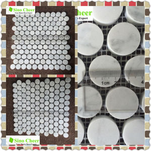 Building Material Stone Tile Carrara White Marble Mosaic pictures & photos