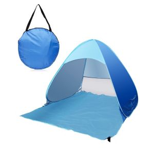 3-Person Automatic Pop up Cabana Beach Tent, Light Blue pictures & photos