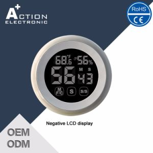 Magnetic Digital Touch Screen Mulitifunctional Timer with Temperature and Humidity pictures & photos